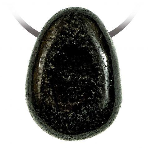 Pendentif goutte pierre percée en tourmaline