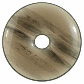 Donut Pi Chinois en obsidienne translucide pour pendentif