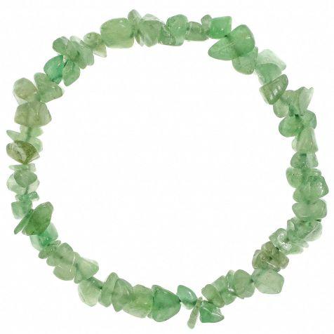 Bracelet en aventurine verte - perles baroques