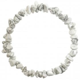 Bracelet en howlite - perles baroques