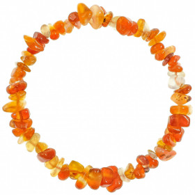Bracelet en cornaline - perles baroques