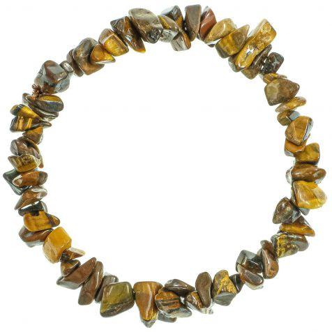 Bracelet en oeil de tigre - perles baroques
