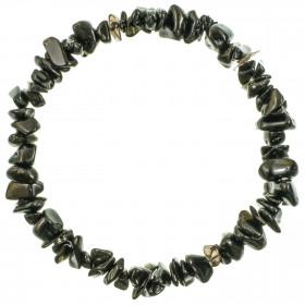 Bracelet en obsidienne noire - perles baroques