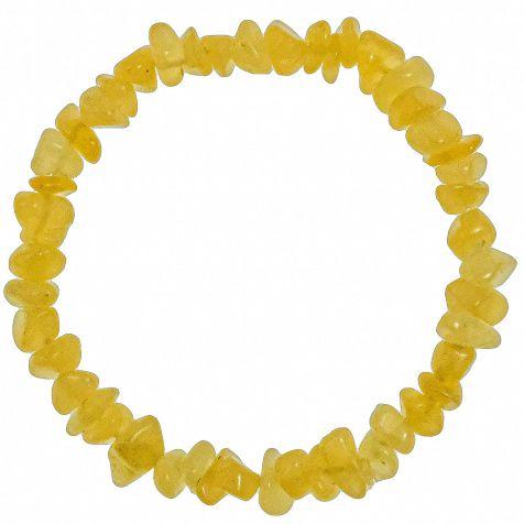 Bracelet en calcite orange - perles baroques