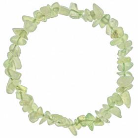 Bracelet en jade vert - perles baroques