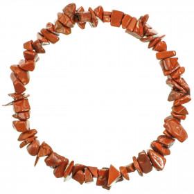 Bracelet en jaspe rouge - perles baroques