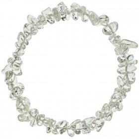 Bracelet en cristal de roche - perles baroques