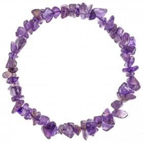 Bracelet en améthyste - perles baroques