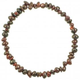 Bracelet en grenat - perles baroques