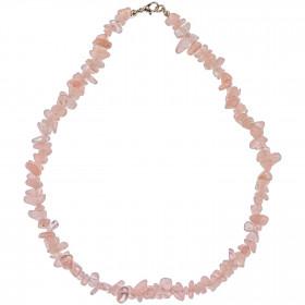Collier de pierre en quartz rose - perles baroques - 45 cm