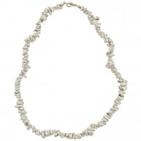 Collier de pierre en howlite - perles baroques - 45 cm