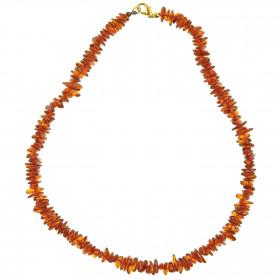 Collier d'ambre - perles baroques - 45 cm