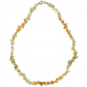 Collier en pierre de lune - perles baroques - 45 cm