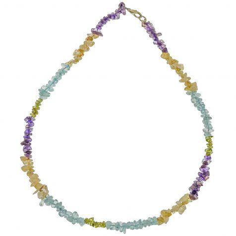 Collier en pierres du monde chakra - perles baroques - 45 cm